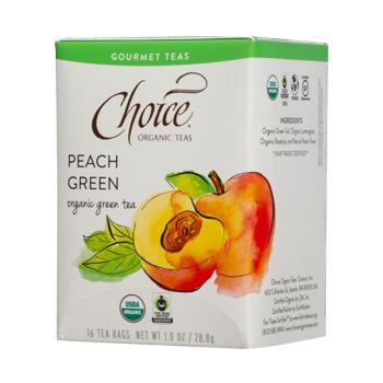 Choice Organic Teas Peach Green Green Tea