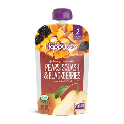 Happy Baby® Organics Clearly Crafted™ Pears, Squash & Blackberries
