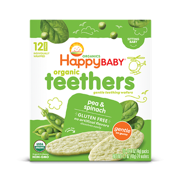 Happy Baby® Organics Teethers Pea & Spinach
