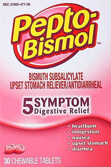 Pepto-Bismol Original Chewable Tablets