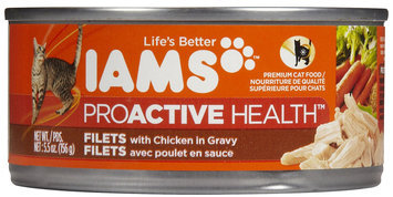 Iams Adult Filets with Chicken in Gravy Canned Cat Food