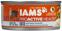 Iams Adult Premium Pate with Select Oceanfish Canned Cat Food