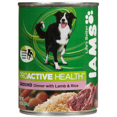 Iams ProActive Health Adult Ground Dinner with Lamb and Rice Canned