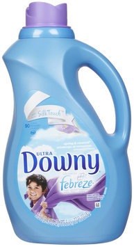 Downy Ultra with Febreze Liquid Fabric Softener, Spring & Renewal, 77 oz