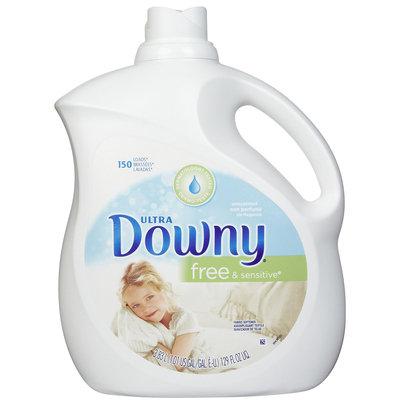 Downy Ultra Liquid Fabric Softener, Free & Sensitive, 129 oz