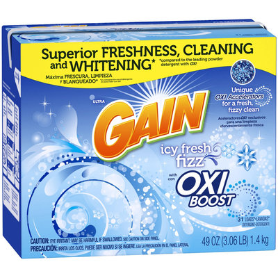 Gain Ultra Powder Detergent with Oxi Booster, 31 Loads