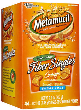 Metamucil Sugar Free Smooth Texture Powder Packets Orange