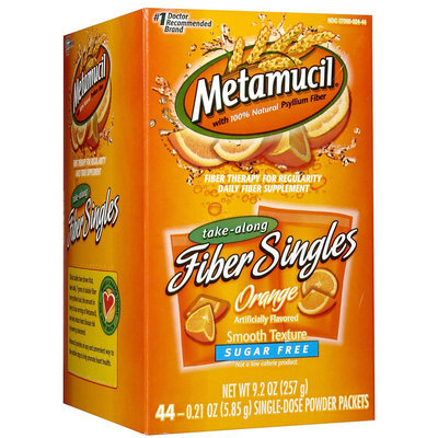 Metamucil Sugar Free Smooth Texture Powder Packets Orange