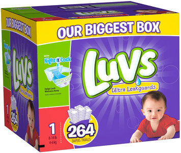 Procter & Gamble Luvs Size 1 Ultra Leakguards Diaper - 264 Count