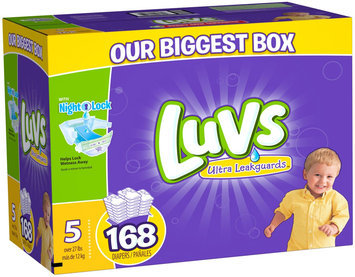 Procter & Gamble Luvs Size 5 Ultra Leakguards Diaper - 168 Count