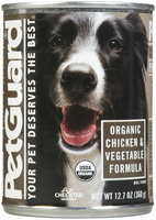 PetGuard Organic Chicken & Vegetable Entree Canned Dog Food
