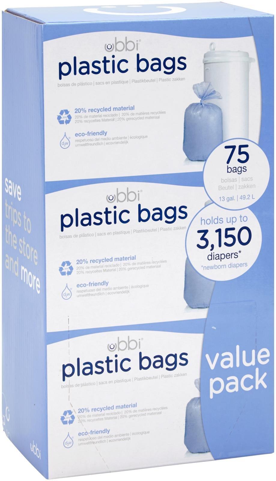 Ubbi Diaper Pail Refill Bags - 3 Pack