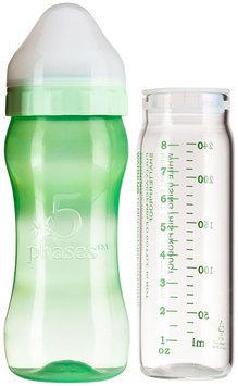 5phases 8oz. Fully Assembled Hybrid Glass Baby Bottle