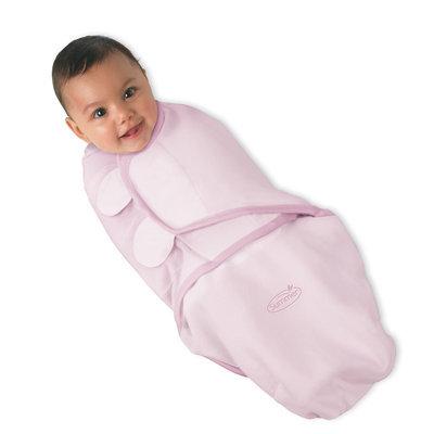 Kiddopotamus Corp CLOSEOUT Kiddopotamus SwaddleMe Cotton Knit Small 7-14 Pounds In Peachy Pink