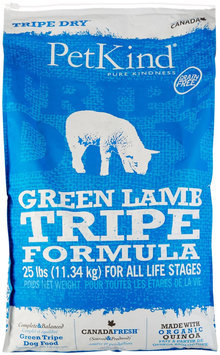 PetKind Green Lamb Tripe Dry Dog Food 25 lb