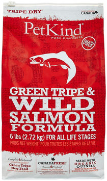 PetKind Green Tripe & Wild Salmon Dry Dog Food 6 lb