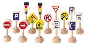 PlanToys Set of Traffic Signs and Lights 1 (Usa)