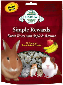 Oxbow Simple Rewards Baked Treats - Apple & Banana