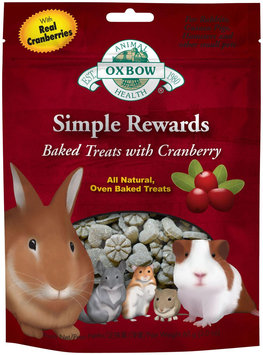 Oxbow Simple Rewards Baked Treats - Cranberry