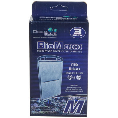 Deep Blue Professional BioMaxx Multi-Stage Power Filter Cartridge 10/30 Gallon