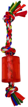 Mammoth Flossy Chews Cloth Squeaky Rope TPR - Multicolor