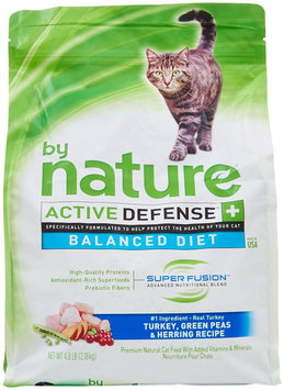 By Nature Active Defense Turkey with Green Peas and Herring Dry Cat