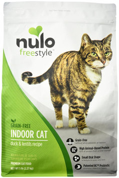 Nulo FreeStyle Grain Free Duck and Lentils Indoor Recipe Dry Cat Food