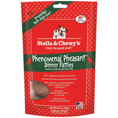Stella & Chewy's Raw Freeze-Dried Dog Pheasant 6 oz
