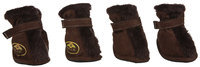 Pet Life Brown Ultra Fur Comfort Dog Boots SM