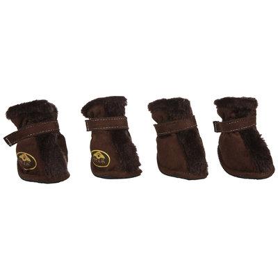 Pet Life Brown Ultra Fur Comfort Dog Boots LG