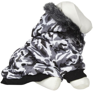Pet Lift Pet Life Deer Pattern Parka Dog Coat LG