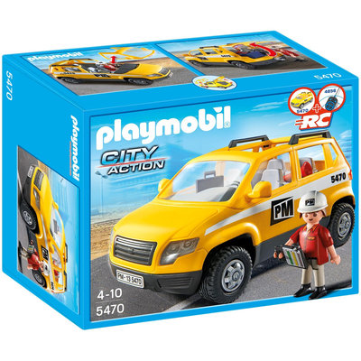 Playmobil City Action Site Supervisor's Vehicle