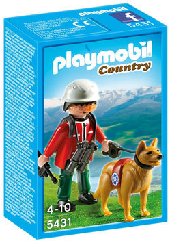 Playmobil Mountain Rescuer with Search Dog - 1 ct.