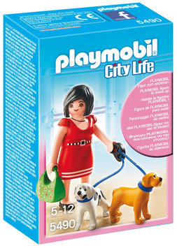 Playmobil City Life Woman With Puppies