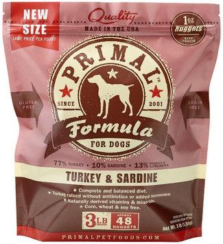Primal Pet Foods Raw Dog Turkey & Sardine Nuggets 3 lbs