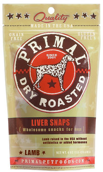 Primal Pet Foods Primal Dry Roasted Lamb Liver Snaps for Dogs