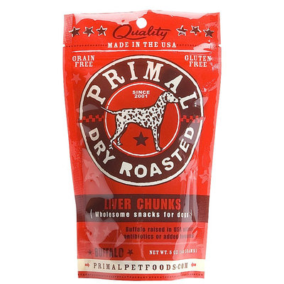 Primal Primal Dog Chunks Buffalo Liver - 5 oz