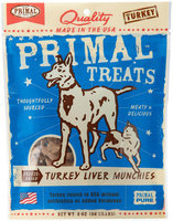 Primal Turkey Liver Munchies Dog Treats