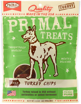 Primal Jerky Organic Turkey Chips Dog Treats, 3 Oz
