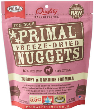 Primal Pet Food Primal Freeze Nugget Turkey Dry Dog Food