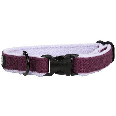 Planet Dog Cozy Adjustable Dog Collar Purple Medium