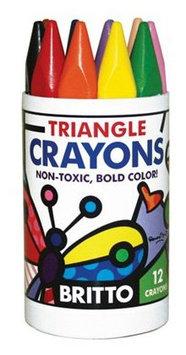 Britto Triangular Crayons Extra Jumbo (12 colors)
