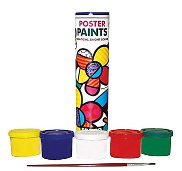 Britto Poster Paints (5 pack + brush)