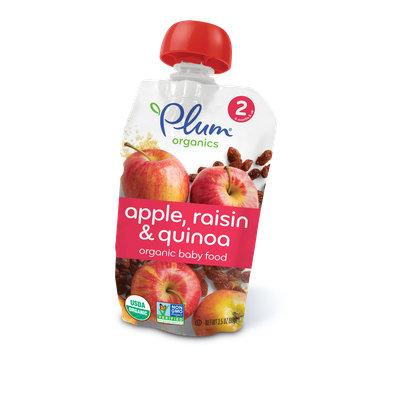 Plum Organics Second Blends Apple, Raisin & Quinoa
