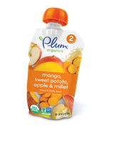 Plum Organics Second Blends Mango, Sweet Potato, Apple & Millet