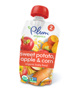Plum Organics Second Blends Sweet Potato, Apple & Corn