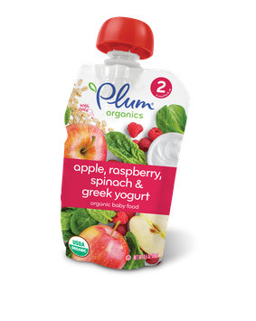 Plum Organics Second Blends Apple, Raspberry, Spinach & Greek Yogurt