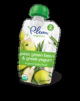 Plum Organics Second Blends Pear, Green Bean & Greek Yogurt