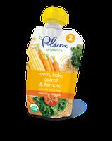 Plum Organics Second Blends Hearty Veggie Meal: Corn, Kale, Carrot & Tomato