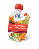 Plum Organics Stage 3 Meals Carrot, Chickpea, Pea, Beef & Tomato With Celery, Date & Onion